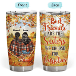 Personalized Autumn Fall Best Friends Besties Gifts Thanksgiving Christmas 20oz Tumbler Cup