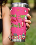Personalized Christmas Stink Stank Stunk, Custom Date Red Mask Stainless Steel Tumbler Cup For Coffee/Tea
