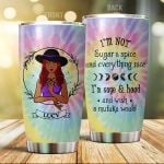 Personalized I'm Not Sugar And Spice I'm Sage And Hood Wish Steel Tumbler 20Oz Tumbler For Witch Lover Friends Child Family Witch Tumbler Halloween Tumbler Gifts For Halloween Xmas