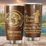 Personalized Master Baiter Tumbler Specializing In Jerking My Baiter Tumbler Custom Tumbler Insulated Stainless Steel Gifts For Lovers Fishing In Birthday Gift For Baiter In Christmas Thanksgiving