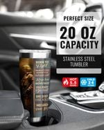 The Soldier Born To Fight, One Shot One Kill Stainless Steel Tumbler, Tumbler Cups For Coffee/Tea