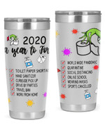 2020 A Year To Forget World Wide Pandemic, Quarantine Stainless Steel Tumbler, Tumbler Cups For Coffee/Tea