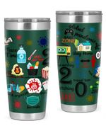 Global Pandemic, Face Masks, Travel Ban, Face Time Stainless Steel Tumbler, Tumbler Cups For Coffee/Tea