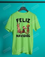 Feliz Navidog Vizsla Short-Sleeves Tshirt, Pullover Hoodie, Great Gift For Thanksgiving Birthday Christmas