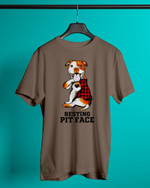 Resting Pit Face Pit Bull Short-Sleeves Tshirt, Pullover Hoodie, Great Gift For Thanksgiving Birthday Christmas
