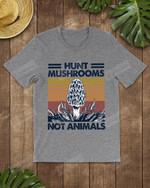 Retro Navy Hunt Mushrooms Not Animals Short-Sleeves Tshirt, Pullover Hoodie, Great Gift For Thanksgiving Birthday Christmas