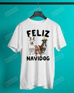 Feliz Navidog Pit Bull Short-Sleeves Tshirt, Pullover Hoodie, Great Gift For Thanksgiving Birthday Christmas