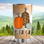 It's Fall Y'all Pumpkins Steel Tumbler 20Oz Tumbler For Fall Lover Child Friends Family Gifts Fall Tumbler Pumpkin Mug Autumn Tumbler Gifts For Autumn Halloween