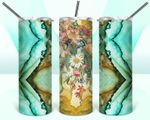 Flowers Stainless Steel Tumbler, Tumbler Cups For Coffee/Tea