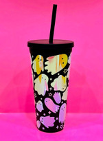 Holographic Ghost Tumbler Stainless Steel Tumbler, Tumbler Cups For Coffee/Tea
