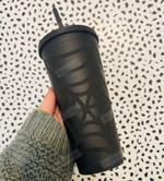 Black Matte Halloween Themed Tumbler Stainless Steel Tumbler, Tumbler Cups For Coffee/Tea