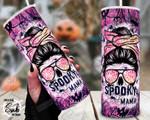 Halloween Spooky Mama Pumpkin Ghost Stainless Steel Tumbler, Tumbler Cups For Coffee/Tea
