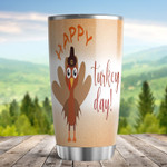 Happy Turkey Day Thanksgiving Tumbler For Dad Mom Grandparents Family Gifts Parents Tumbler Family Gifts Thanksgiving Tumbler Funny Gifts For Thanksgiving Day 20oz Sports Bottle Steel Tumbler
