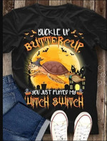 Buckle Up Butter Cup Shirt, Turtle Witch T-Shirt, Halloween Gift