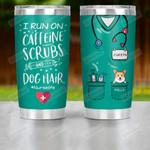Personalized Nurse And Dog Custom Tumbler