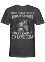 Touch Enough To Be Ashole's Girlfriend For Skull Lovers Shirts / Mugs / Totes / Hand Bags