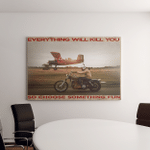 Choose Something Fun Riding Motorbikes Motorcycles And Racing For Racers And Riders Canvas / Posters / Puzzles