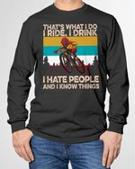 I Ride Drink And I Know Things Riding - Cycling - Riders - Cyclist Shirts / Mugs / Hand Bags / Totes