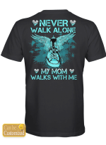 Personalized Walks With Me Memory Memorial Loss For Ones In Heaven Shirts / Mugs / Totes / Hand Bags