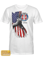 Personalized Shirts Hoodies Cups For Nurses American Flag
