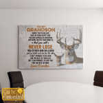 To My Grandson Personalize Canvas Posters Family Gifts