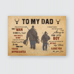 To My Dad From Son Hunting For Hunting Lovers Posters / Puzzles