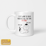 I Just Want To Touch Your Butt  Valentine Mugs Cups For Couples