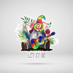 Colorful Gnome Hippie Stickers Shirts Hoodies Mugs Cups Hand Bags Totes