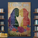 Personalized Name I Choose You Female Couple Canvas / Posters / Puzzles