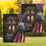 We Will Serve The Lord Jesus God Christ Christian Flags Bedding Set Bedset Quilts Blankets