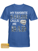 Personalized Sailor Dad Father Shirts Hoodies Cups Mugs Hand Bags Totes