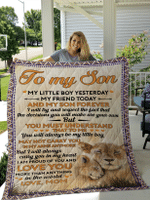 To My Son Quilts Blankets Shower Curtain