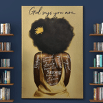 God Says You Are Afro Girl Canvas / Posters / Puzzles
