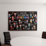 Social Distance Greetings Canvas Posters Puzzles Teacher Life