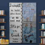 Let's Go To The Beach Couples Canvas Posters Puzzles