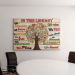 In This Library Canvas Posters Puzzles