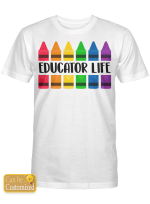 Personalized Title Crayon Teacher Life