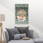 There Was A Girl Who Really Loved Rabbits Canvas Posters - Rabbit / Farming