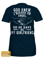 Personalized God Gave Me My Angel - Couple Shirts / Mugs / Totes / Hand Bags