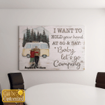 Let's Go Camping Personalized Canvases Pictures Frames Posters Puzzles Blankets For Couples Husband Wife Grandma Grandpa Grandparents Anniversary Gifts