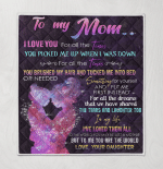 To My Mom Blankets Quilts Puzzles Posters Shower Curtains Mother's Day Gifts