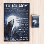 To My Mom Wolf From Son Blankets Quilts Comforters Bedding Sets Canvas Posters Puzzles Pictures Shower Curtains