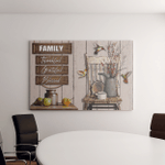 Family Blessed Canvases Posters Puzzles Shower Curtains