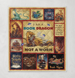Dragon Book Worm Blankets / Quilts / Bedding Sets / Shower Curtain
