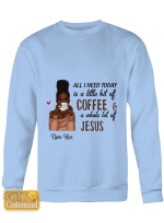 All I need is coffee and Jesus For God Lovers Christ Christian Totes / Hand bags / Shirts / Purses