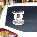 Personalized Image And Name Grumpa Father's Day Vinyl Stickers Shirts Hoodies Cups Mugs Totes Handbags
