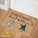 No Need To Knock Dogs Doormats Mats Canvases Pictures Posters Puzzles
