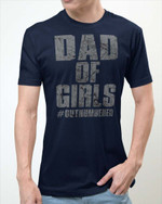Dad Of Girls Father's Day Gifts Vinyl Stickers Shirts Hoodies Cups Mugs Totes Handbags
