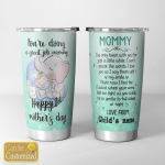 Personalized Happy 1st Mother's Day For Mom Tumblers