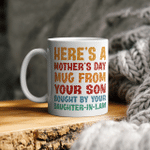 Bought By Daughter In Law Mother's Day Gifts Shirts Hoodies Cups Mugs Totes Handbags